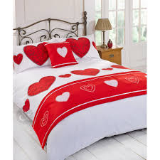 image of romantic duvet cover red