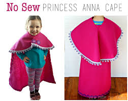 no sew princess anna cape view from the fridge