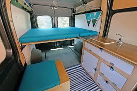 ram promaster camper van conversion kit simple teal