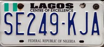 car plate number in nigeria