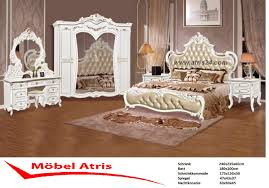 Schlafzimmer Komplett Set Barock Weiss Bett Schrank Atris 24