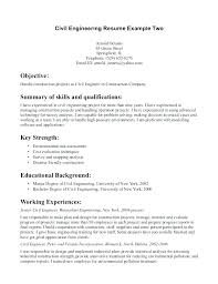 Structural Engineer Job Description Sample Resume Civil Engineering Cool Sample Resume Of A Civil Engineer