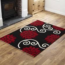 fl black red runner rug