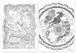 Small Picture Mermaid Galore Grown Up Coloring Hattifant