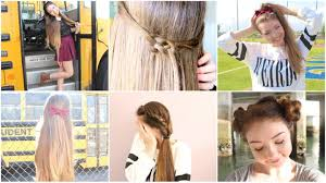 Hairstyles For School Step By Step Cute Hairstyles Tumblr For School Step By Step Ed Dropf Styles