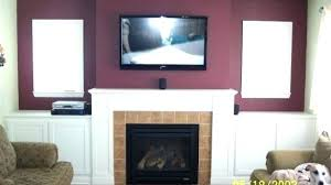 ideas hang tv over fireplace and how to mount over fireplace and hide wires mounting over