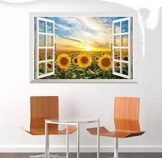 Image Wall Hanging False Window Sun Sunflower Home Decor Creative Mural Wall Stickers Souq Uae Dhgatecom False Window Sun Sunflower Home Decor Creative Mural Wall Stickers
