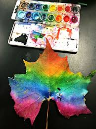 art smart leaves and grade students kicked off the first week of fall by making leaf prints these leaves came off a sycamore tree and