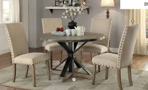 circle dining room table coaster furniture 107100 round table in driftwood grey timeless re purpose look