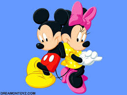 Mickey Mouse Wallpaper For Bedroom Cartoon Wallpaper Of Mickey Mouse With Minnie Mouse On Blue