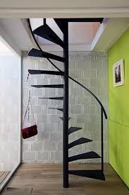 Iron Stairs Design Indoor Black Mate Metal Indoor Floating Spiral Staircase Design For