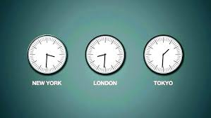 time zones wall clock world