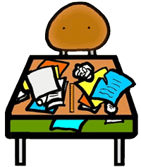 messy desk clipart. Interesting Desk Messy Desk Clipart Inside L