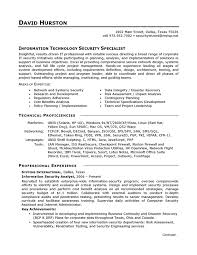 Resume Example It Security Careerperfect Com