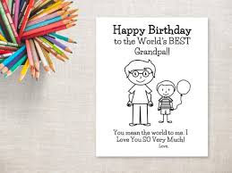 Maybe you would like to learn more about one of these? Birthday Coloring Printable Boy Grandpa Birthday Card To Etsy