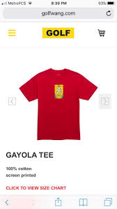 Golf Wang Size Chart Pin By Ynez Vela On Stuff I Need Mens Tops Shirts Size