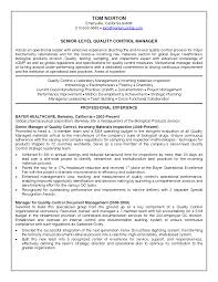 Sample Resume Quality Control Quality Control Analyst Sample Resume Soaringeaglecasinous 16
