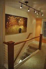 hallway track lighting. home remodel waukesha cable rail cherry hand track lighting hallway