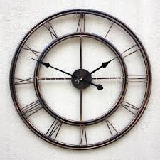superb metal wall clock extra large metal wall uk metal wrought iron oversized fresh ideas extra