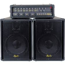 sound system. squier 4-channel pa system sound r