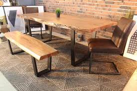 modern 1 furniture. Acacia Natural Wood Live Edge Table With Black U-Shaped Legs/Natural Color - Modern 1 Furniture .