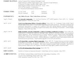 Military Pilot Resume Adorable Resume For Pilots Aviation Resume Pilot First Officer Best Resume