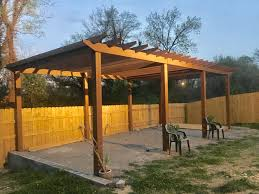 Patio Privacy Fence Tri Section Pergola Built 30 X 12 For Backyard Patio Privacy