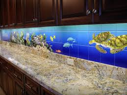hawaii kitchen design aquarium tile mural
