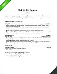Sample Cosmetology Resume Extraordinary Cosmetology Resume Sampl Marvelous Cosmetology Resume Examples