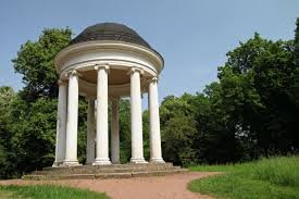garden pillars. This Gazebo With Tall Round Pillars Has A Grecian Appeal It Is Great Garden