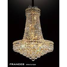 frances 14 light asfour crystal chandelier pendant in french gold