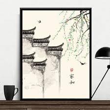 Tranh Tô Màu Theo Số, Sơn Dầu Số Hóa Phong Cách Nhật - Cành Liễu Rũ - Tranh  sơn dầu Thương hiệu OEM