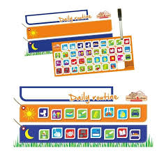 Monkey Chops Daily Routine Rigid Magnetic Chart With Hanger