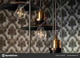 Schwarze Dekorative Lampen Hängt Von Der Decke Ein Moderner