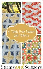 Modern Quilt Patterns Adorable 48 Totally Free Modern Quilt Patterns Seams And Scissors