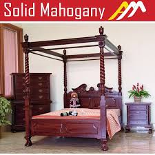 four poster bedroom furniture. Solid Mahogany Wood Chippendale 4 Poster Bed Queen King Size Antique Style Four Bedroom Furniture S