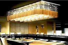 rectangular crystal chandelier