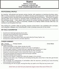 Primary Teacher Cv Example - Forums.learnist throughout Primary School Teacher  Resume