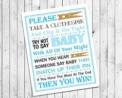 Baby Shower Clothes Pin Game Fascinating Baby Shower Game Blue Clothespin Game Printable Instant Download