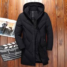 black hooded long duck down parkas men casual winter clothing down outwear male thick down coat fashion puffer jacket jk 8911 clothing