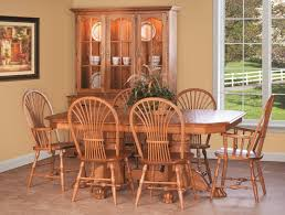 Amish Country Pedestal Dining Set Sheaf Chairs Claw Foot Table - Amish oak dining room furniture