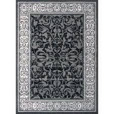 gray accent rug home grey x size verona ice