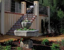 santa barbara rosemary hedge spaces mediterranean with home design traditional tiered outdoor fountains low water use gardens for spanish style
