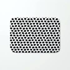 beehive black and white bath mat target