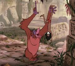 Upside Down Art Mowgli Hanging Upside Down By Baloorule58 On Deviantart