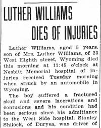 Son of Luther and Phyllis Williams aka Phyllis Smith aka Priscilla Richards.  - Newspapers.com