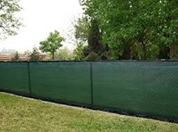 6' x 50' Privacy Fence Screen Dark Green w/ brass grommets (actual size  5'8''x50')