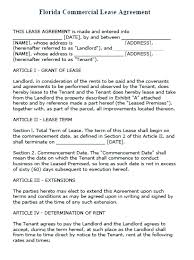Lease Agreement Example Commercial Lease Agreement Free Word Documents Download