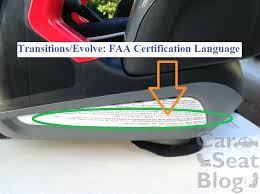faa car seat transitions certification sticker faa approved car seat brands