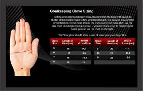 Glove Size Chart Uk Ultimax Sports Gloves Sizes